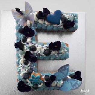 Koektaart Vanille met blauwe bes