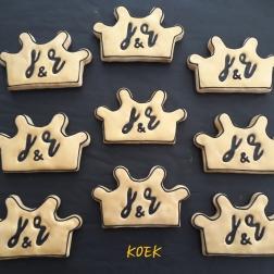 Huwelijkjubileum initialen koek