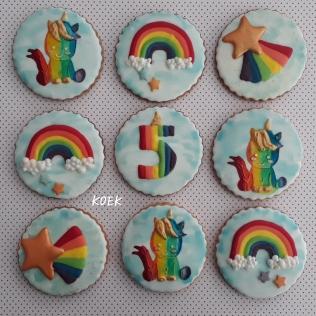 Regenboog en Unicorn